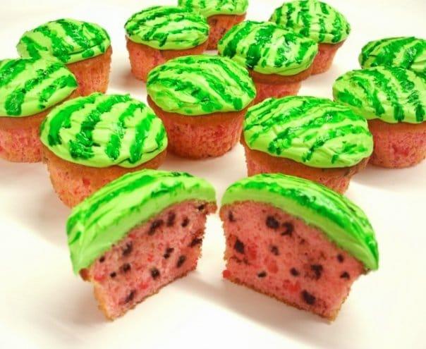 Cupcakes de melancia 1