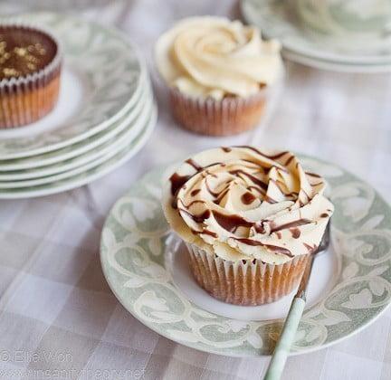 Cupcake de manteiga de amendoim