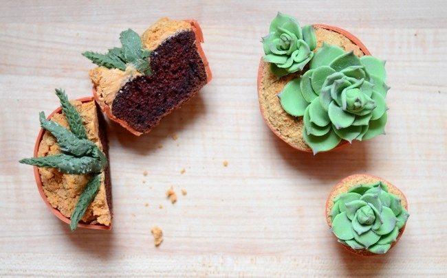 Cupcakes em forma de vasinhos 11