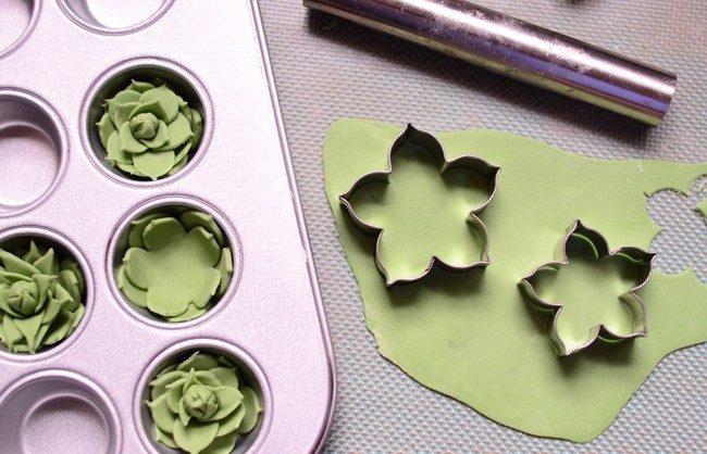 Cupcakes em forma de vasinhos 8