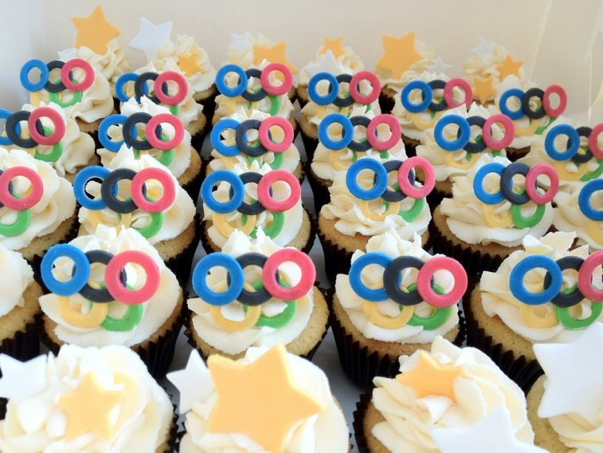 Cupcakes para as Olimpíadas Londres 2012 3