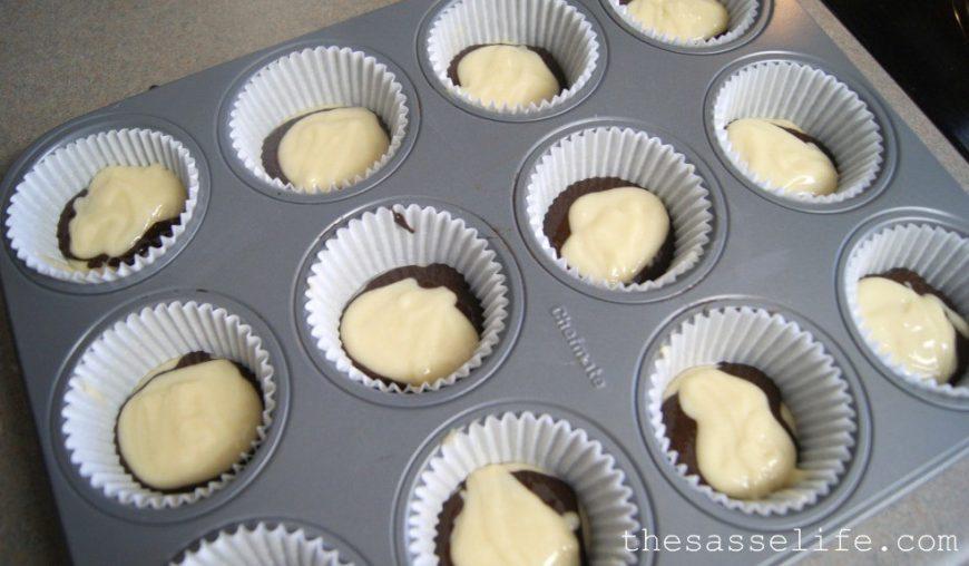 Cupcakes de zebrinha (massa, cobertura e forminha) 5