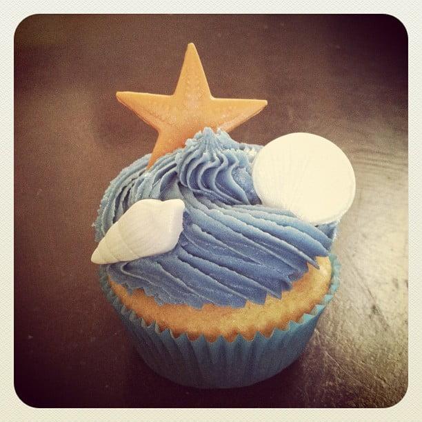 Cupcakes com tema de praia 1