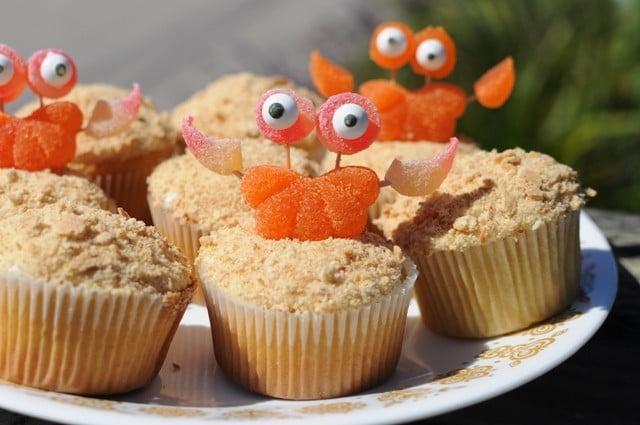 Cupcakes com tema de praia 2