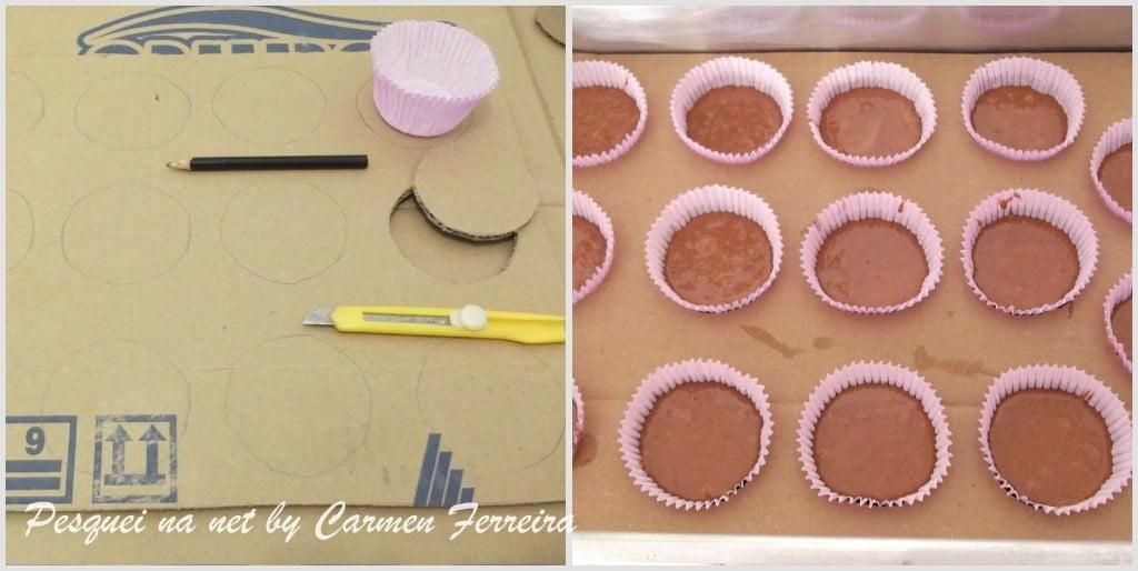 Fazendo cupcakes sem a forma de cupcakes