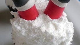 Santa feet cupcake