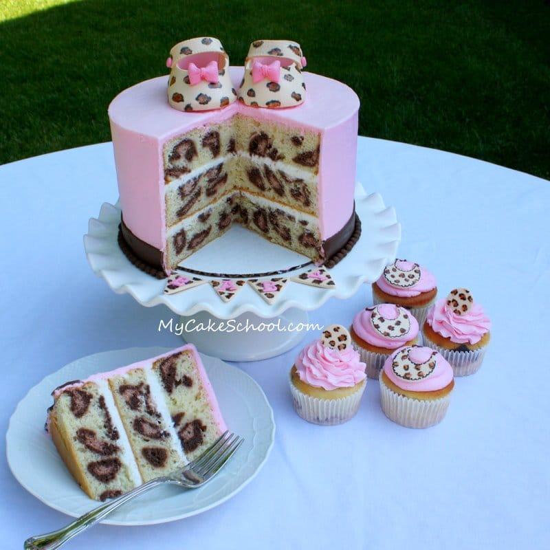 Criando efeitos na massa do seu bolo ou cupcake