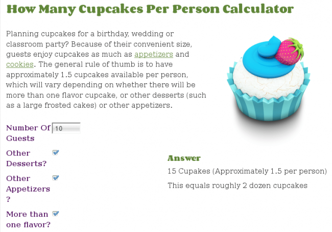 How Many Cupcakes Per Person Calculator | Calculate This! 2014-01-02 14-52-37
