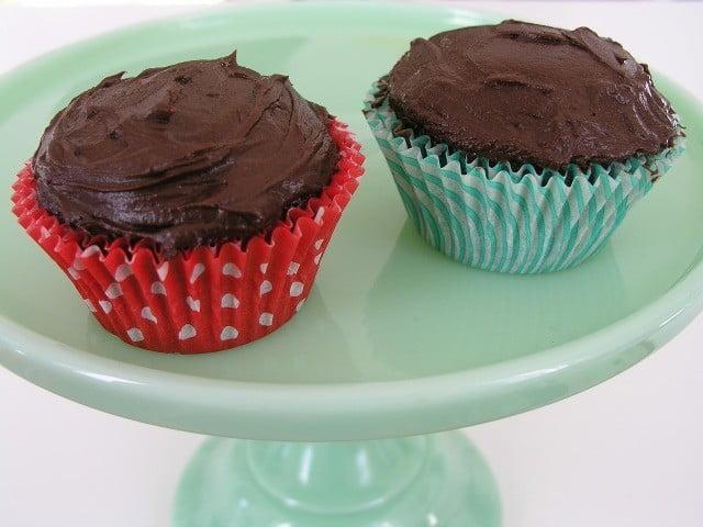 Receita para dois cupcakes de chocolate