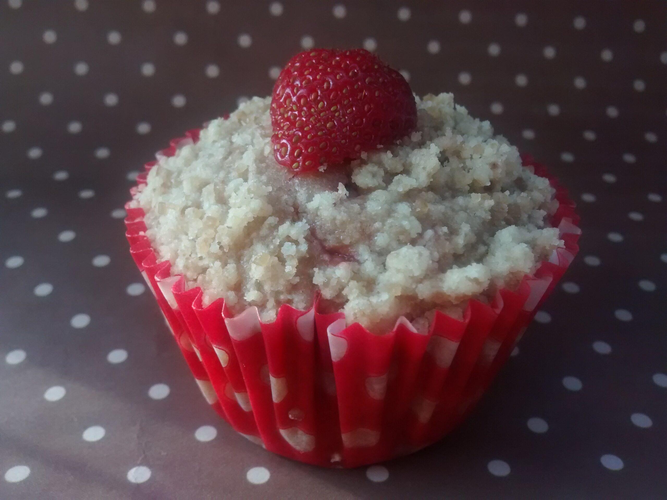 Muffins de morango com streusel 1