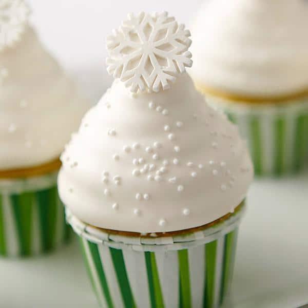 Cupcakes Hi hat para o natal