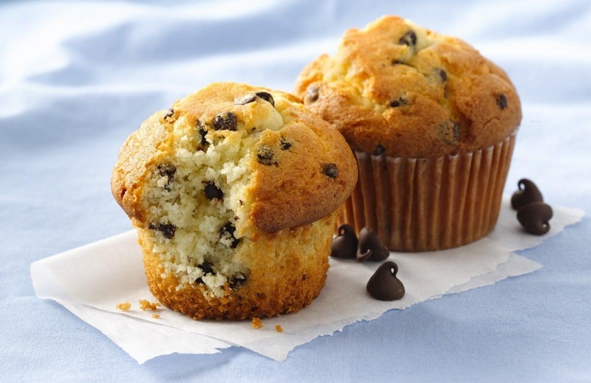 Muffins de gotas de chocolate 1