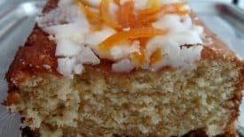 Bolo de laranja com casca cristalizadas 1