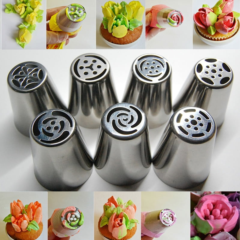 7PCS-Stainless-Steel-Russian-Tulip-font-b-Icing-b-font-Piping-Nozzles-Pastry-Decorating-font-b