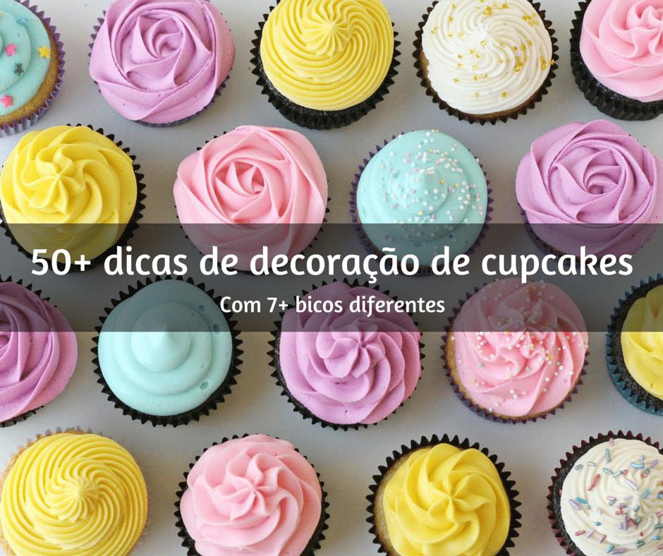 115+ técnicas de decoração de cupcakes