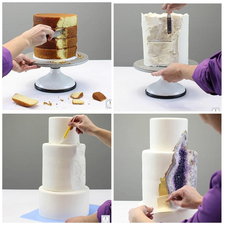 Step-By-Step-Geode-Cake
