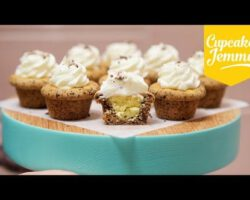 Cupcakes de cookie de gotas de chocolate 1