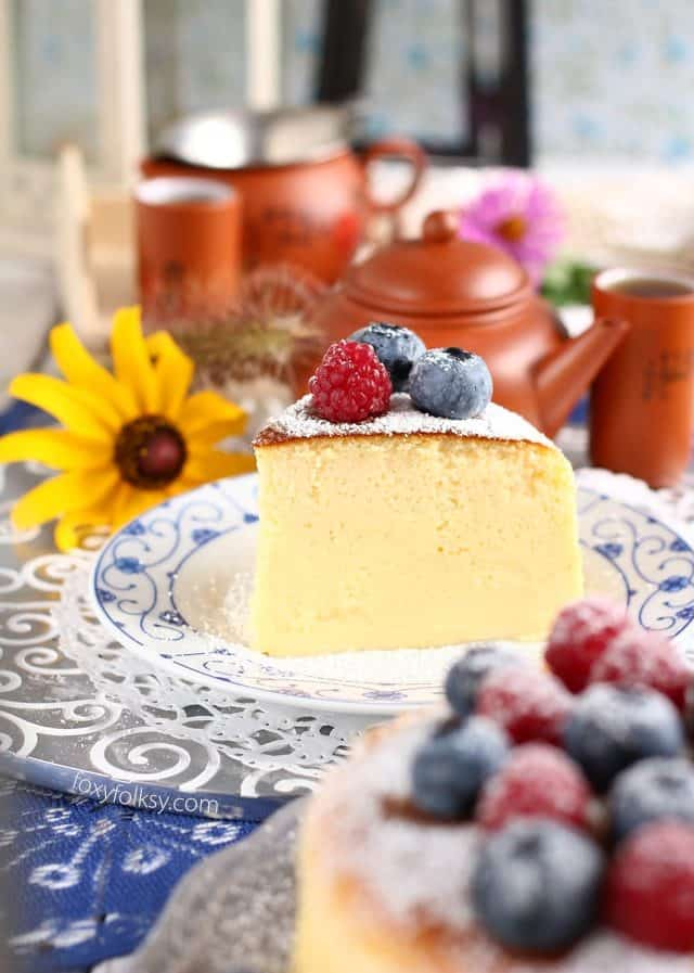 Cheesecake japonês 16