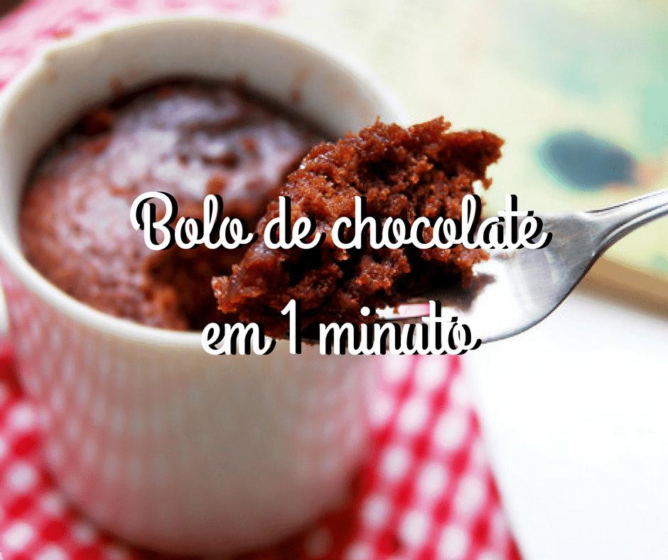 Bolo de chocolate de caneca em 1 minuto + versões fit, s/ glúten, s/ leite/lactose e vegana