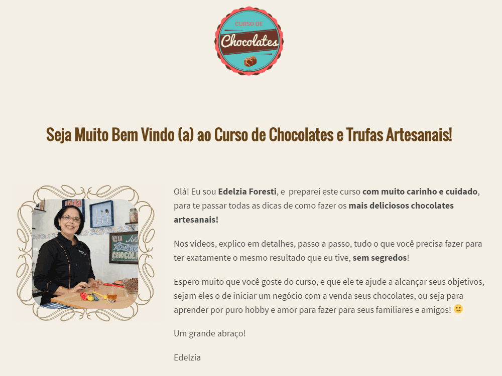 Assista a um módulo grátis no curso de chocolates e trufas 1