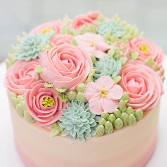 Flower cakes 16