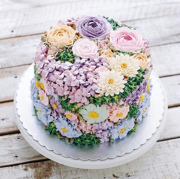 Flower cakes 8