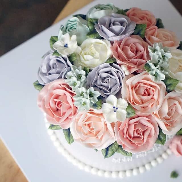 Flower cakes 6