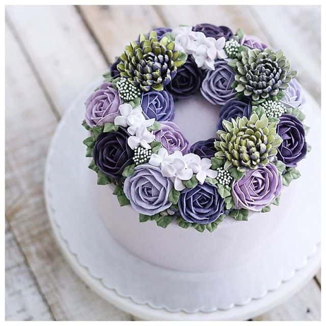 Flower cakes 5