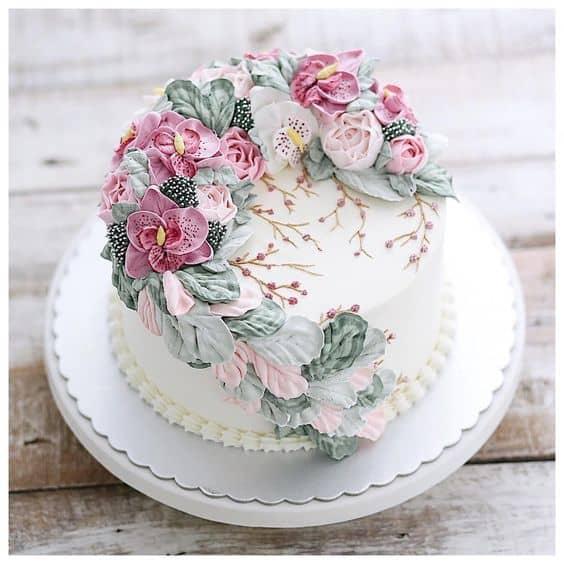 Flower cakes 18